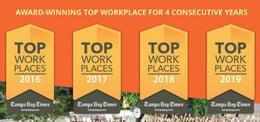 KnowBe4 zum vierten Mal in Folge als Top Arbeitgeber ausgezeichnet
